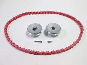 "Craftsman Table Saw Belt & Pulley Kit 2 1/2"" Pulleys  Keys & Fenner PowerTwist"
