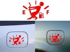 "Funny Fuel Door Gas Gauge Decal 4.5"" x 3.5"" Bumper Sticker Vinyl New Free Ship"