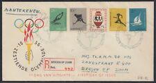 NED 33472) Niederlande Olympia 1956 Mi.-Nr. 678-382 FDC