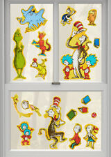 DR. SEUSS clings 18 Cat in Hat window/glass/mirror decoration Kids Things 1 2 +