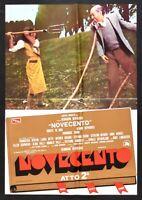 Werbeplakat Novecento Akt 2 Bertolucci Robert De Niro Depardieu Lancaster B S14