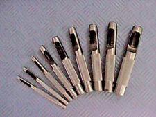 9 tlg Locheisen Set 3,2 - 12,7 mm Locher Lochmeissel Loch Eisen Satz Lochzange