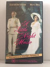 A LITTLE NIGHT MUSIC ~ ELIZABETH TAYLOR, DIANA RIGG, LEN CARIOU ~ RARE VHS VIDEO