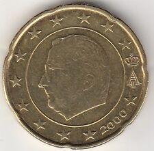 BELGIQUE - 20 CTS D'EURO 2000 - SURPLUS DE METAL SOUS LA BOUCHE ET LE NEZ