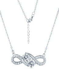 Sterling Silver Infinity CZ Pendant