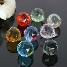 8Pcs Rainbow Crystal Chandelier Lighting Lamp Part Ball Beads Prisms Pendants