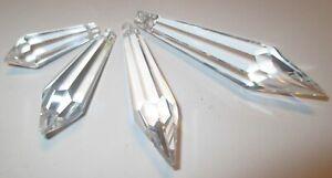 5 Zapfen 50x15mm. Fensterschmuck, Lampenschmuck, Kristallanhänger Asfour Crystal