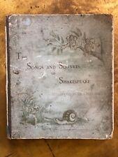Shakespeare Songs & Sonnets Sir John Gilbert Illustrations ANTIQUE Book Decor