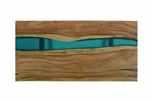 """60"""" x 30"""" Epoxy Center Table Top , Wood table, epoxy Resin River"""