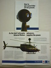1984-85 PUB 3 PAGES ALLISON GM GAS TURBINE ARMY HELICOPTER OH-58D ORIGINAL AD