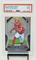 2019 Prizm Washington RC Star TERRY MCLAURIN Rookie Football Card PSA 9 / Pop 69