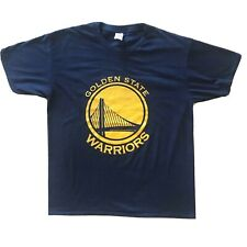 Golden State Warriors NBA T-Shirt Royal Blue California Gold Yellow Size Medium