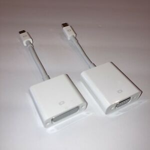 Apple Mini DisplayPort Thunderbolt To DVI and VGA Adapters A1305 A1307, Working
