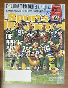 Packers Signed Autographed Sports Illustrated Aaron Rodgers & WRs Auto