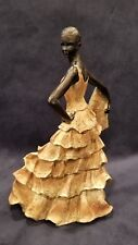 "Vintage Flamenco Dancer Statue Figurine 9"" Resin Marked"
