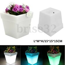6'' Light Up Plant Pot Illuminated LED Planter LED Flower Pot Conservatory Patio
