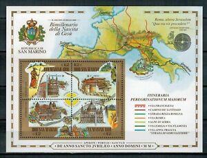 SAN MARINO - AL FACCIALE - 2000 GIUBILEO (BIMILLENARIO GESU') FOGLIETTO ** MNH