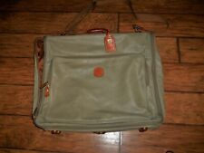 Bric's Leather Made in Italy Deluxe Garment Bag with Accessories & Brass Accents