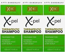 3 x 125ml Xpel Therapeutic Shampoo Treatment for Dandruff, Psoriasis Itchy Scalp