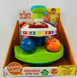 Bright Starts Alphabet Pop Top Play & Learn 6-36 month
