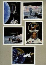 Angola 1999 First Man on Moon set of 5 souvenir sheets MNH Sc#1111-12/1113-15
