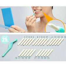 Nuevo conjunto Dientes Diente Dental Descamación Stick + 25 PC Goma de Borrar