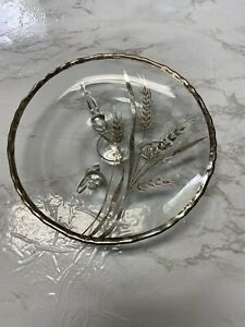 vintage Silver Overlay Serving Footed Candy Bowl.