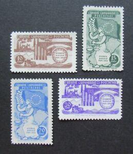 1954 SET 10K TO 30K TURKEY TURKIYE AVRUPA CONSEYI VF MLH B351.30 START $0.99