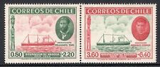 CHILE 1940 PAIR STAMP # 265/6 MH SHIP EASTER ISLAND ISLA DE PASCUA