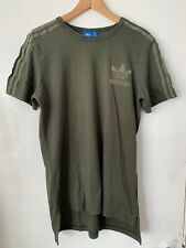Genuine Adidas Originals Trefoil T-Shirt Khaki Green Size Medium 3 stripes