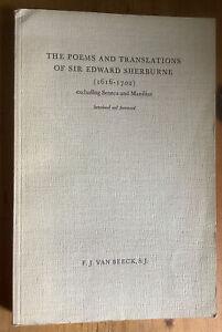 Poems & Translations of Sir Edward Sherburne (1616-1702).