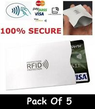 5 x RFID Wallet Blocking Card Protector Contactless Holder 100% Protection RF