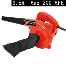 Toolman 3.5A 200MPH air speed Corded Electric Leaf Blower Sweeper Vacuum Cleaner