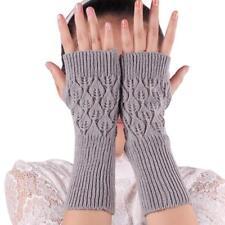 Fashion Unisex Women Ladies Fingerless Gloves Soft Warm Soft Knitted Mittens