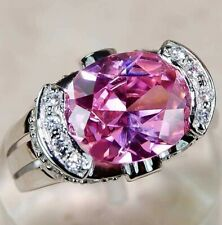 6CT Pink Sapphire & Topaz 925 Sterling Silver Ring Jewelry Sz 7, M4