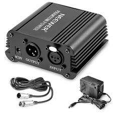 Neewer 1-Channel 48V Phantom Power Supply with Adapter, BONUS+XLR 3 Pin Micropho