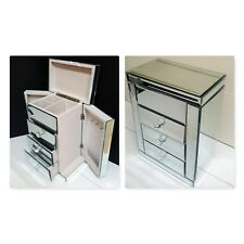 Large  compact Mirrored  Jewellery Box with drawers and compartment