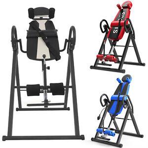 Foldable Premium Gravity Inversion Table Back Therapy Fitness Reflexology Safe
