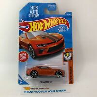 '18 Camaro SS #50 * Orange * 2018 Hot Wheels * AUTO SHOW 2018