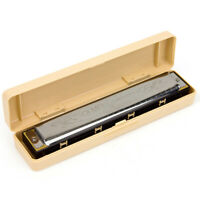 Tremolo Harmonica French Harp Mouth Organ Phosphor Bronze 24 Holes Key of C