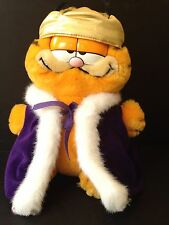 Garfield Dakin Old King Cole Furry Tales Royal Crown Plush Vintage