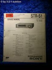 Sony Service Manual STR S1 Receiver (#0136)