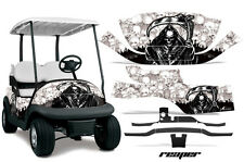 Club Car Precedent Golf Cart Graphic Kit Wrap Parts AMR Racing Decals REAPER WHT