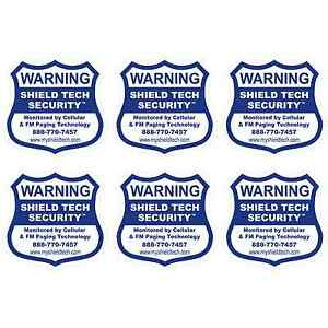 6 BACK ADHESIVE WINDOW or DOOR DECAL -WARNING STICKER ALARM SECURITY SYSTEM PK B
