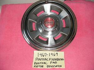 1967-1969 PONTIAC FIREBIRD PMD FACTORY GM HUBCAP PONTIAC MOTOR DIVISION FREE SHI