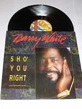 "BARRY WHITE - Sho' You Right - 1987 UK 3-track 12"" vinyl single"