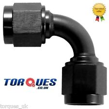 """AN -16 (AN16 1-5/16"""" UNF JIC -16)  90 Degree Female to Female Adapter In Black"""