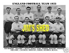 ENGLAND FOOTBALL TEAM 1953 (RAMSEY/UFTON/MATTHEWS)