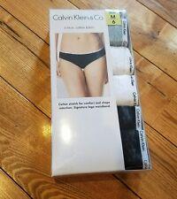 NWT Women's CALVIN KLEIN Underwear 5-Pack Cotton Bikini Panties Size L/7