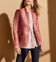 Lafayette 148 New York Nikala Glazed Lambskin Jacket  $1248 Size 10 # 6D 1072 B